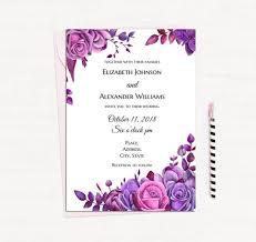 Purple Wedding Invitation Template Magdalene Project Org