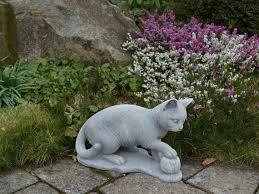 ball stone statue concrete cat home pet