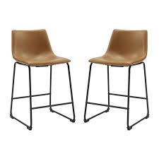 image is loading 26 034 faux leather counter stool 2 pack