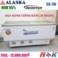 Tủ đông kính cong Alaska SD-7W 700 lít | Điện Lạnh Nguyễn Khánh
