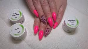 Neon Barbie Pink Barevné Gely Neon Nl Nails Profesional