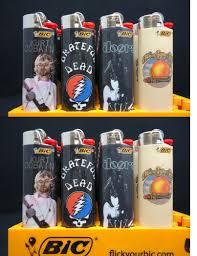 Bic Lighter Designs 8 Bic Lighters Kurt Cobain Grateful Dead Doors Allman
