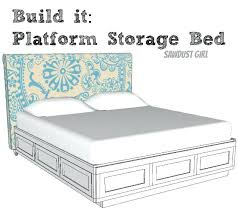 king size storage bed plans cal king platform storage bed free plans sawdust diy king size