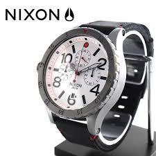 48 20 nixon nixon the chrono leather metal x white nixon nixon