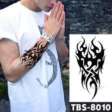 Vodotěsný Dočasné Tetování Muži Oheň Tetování Orel Lotus Mandala
