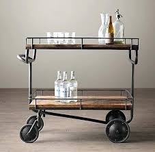 antique bar cart. Antique Bar Cart Warehouse Trolley I Restoration Hardware Taking Its Design Cue From A Vintage Factory