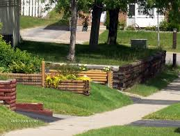 Small Picture How to Build Retaining Walls with Railroad Ties Incoming