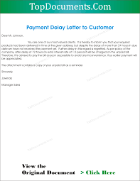 Payment Delay Letter To Client Top Docx