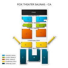 Fox Theater Salinas 2019 Seating Chart