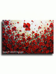 red poppy canvas wall art inside popular art abstract red poppy flowers painting original modern art
