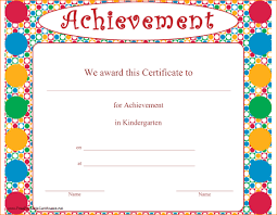 certificates of completion for kids kindergarten certificate template certificates kindergarten and