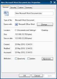Windows Xp What Is The Size Of An Empty Ms Word 2003 Doc
