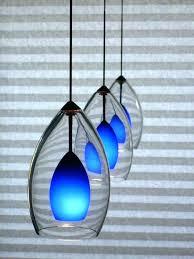 blue ceiling light shade