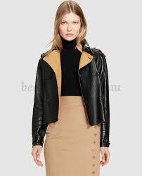 polo ralph lauren women s leather jacket in black 214959