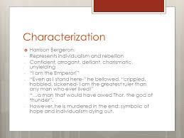 harrison bergeron by kurt vonnegut ppt video online  characterization harrison bergeron