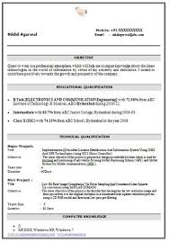 over 10000 cv and resume samples with free download b tech ece resume  download - Ece