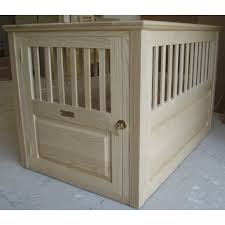 wooden dog crate furniture. large wooden dog crate with no finish furniture c