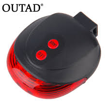 OUTAD Bike Rear Tail Warning Light <b>5 LED Laser Beam</b> MTB ...