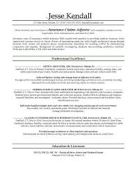 Claims Adjuster Resume] Free Entry Level Insurance Claims Adjuster .