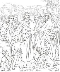 Jezus Met Kinderen Kleurplaat Gratis Kleurplaten Printen