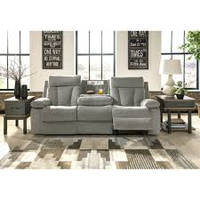 ashley mitchiner reclining sofa with drop down table