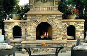 outdoor fireplace chimney finishing work