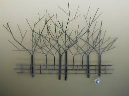 metal tree sculpture wall art