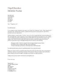 Substitute Teacher Resume Cover Letter Nigel Brookes