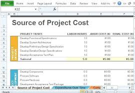 Monthly Cost Tracker Template And Project Expense Tracking Software