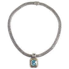 john hardy necklace with blue topaz pendant at 1stdibs john hardy necklace