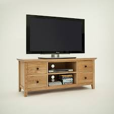 hereford rustic oak wide tv unit