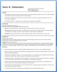 Chemist Resume Objective Entry Level Chemist Resume Objective ...