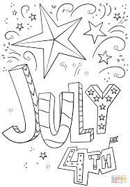 Small Picture 4th of July Doodle coloring page Free Printable Coloring Pages