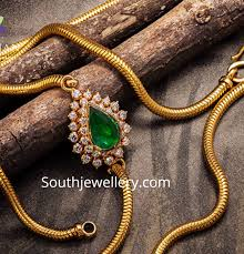 thali chain with diamond side pendant