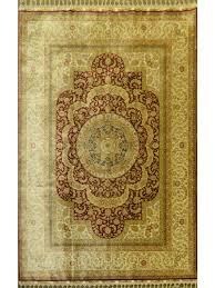 turkish silk rug 5 7 x 8 0 hand made zar03170