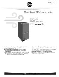 rheem rh1p specification sheet