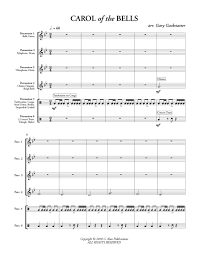 Percussion Bells Notes Chart Carol Of The Bells Gackstatter