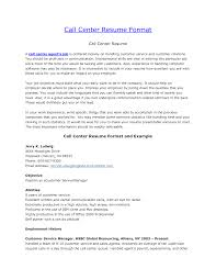 Call Center Skills Resume Inbound Call Center Resume Format Resume Sample For Call Center 9