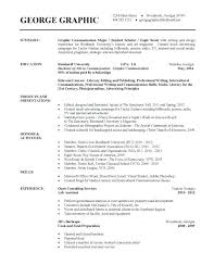 Sample Resume College Graduate Unique Resume Template For Highschool Students Applying College Templates