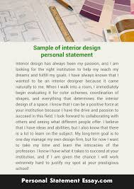 personal statement essay writing services up to your needs  interior design personal statement sample