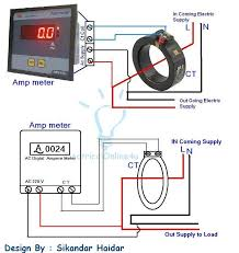 amp meter current transformer wiring diagram wiring diagram home digital ammeter wiring current transformer ct coil ec amp meter current transformer wiring diagram