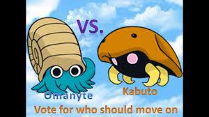 Omanyte Vs Kabuto Pokemon Go