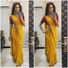 Lakshmi Rupu Blouse Designs Textile Mall Yellow Party Wear Saree