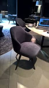 minotti swivel dining chair