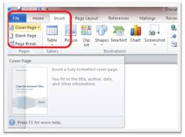 How To Create Your Own Cover Pages In Microsoft Word 2010