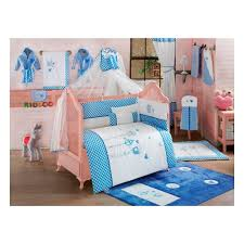 <b>Постельное белье Kidboo</b> 3 предмета серии <b>Lovely</b> Birds Blue ...