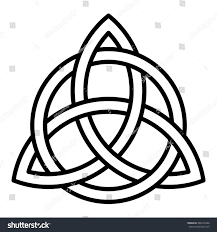 Printable Celtic Knot Designs Celtic Trinity Knot Vector Line Drawing Stock Vector