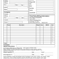 example short form bill of lading short form template 10 best straight example