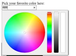 Fashion Jquery Color Picker Selector Plugin Wheel Color