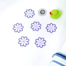 non skid bathtub stickers adhesive daisy bath treads blue purple flower tub treads non slip bathtub stickers bathtub anti skid stickers